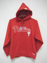 NWT MLB RED HOODED PULLOVER SWEATSHIRT 2 LOGOS - PHILADELPHIA PHILLIES - M - $49.95