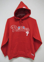 NWT MLB RED HOODED PULLOVER SWEATSHIRT 2 LOGOS - PHILADELPHIA PHILLIES -... - $49.95