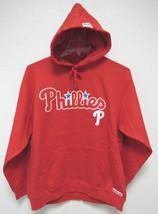 NWT MLB RED HOODED PULLOVER SWEATSHIRT 2 LOGOS - PHILADELPHIA PHILLIES - XL - $49.95