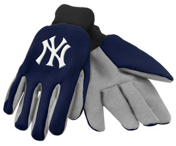 Mlb Nwt Team Color No Slip Palm Utility Gloves - New York Yankees - $10.75
