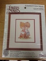 """Precious Moments Counted Cross Stitch Love One Another 8"""" x 10 inch 1994 - $14.84"""