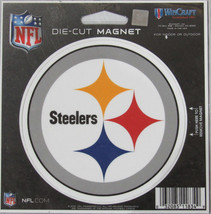 NFL NIB 4 INCH AUTO MAGNET - PITTSBURGH STEELERS - LOGO - €8,45 EUR