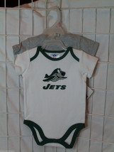 NFL NWT INFANT ONESIE - SET OF 2 - NEW YORK JETS - 6/12M - €18,64 EUR