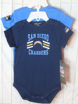 NFL NWT INFANT ONESIE - SET OF 2 - SAN DIEGO CHARGERS - 18M - €18,64 EUR
