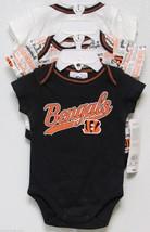 Nfl Nwt Infant ONESIE-SET Of 3- Cincinnati Bengals 0-3 Months - $29.95