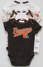 Nfl Nwt Infant ONESIE-SET Of 3- Cleveland Browns 18 Months - $29.95