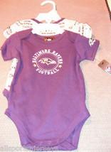 Nfl Nwt Infant ONESIE-SET Of 2- Baltimore Ravens 24M - $21.95