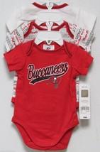 Nfl Nwt Infant ONESIE-SET Of 3- Tampa Bay Buccaneers 0-3 Months - $29.95