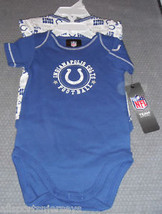 Nfl Nwt Infant ONESIE-SET Of 2- Indianapolis Colts 24M - $21.95