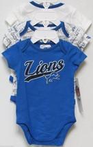 Nfl Nwt Infant ONESIE-SET Of 3- Detroit Lions 18 Months - $29.95
