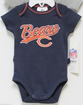 Nfl Nwt Infant ONESIE-SET Of 2- Chicago Bears 6-12 Months - $23.90