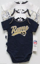Nfl Nwt Infant ONESIE-SET Of 3- St. Louis Rams 6-12 Months - $29.95