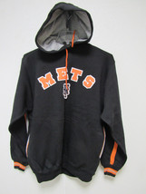 NWT MLB HOODED PULLOVER BLACK SWEATSHIRT APPLIQUE - NEW YORK METS - XXL - $34.95