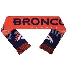 "Nwt Nfl 2015 Reversible Split Logo Scarf 64"" By 7"" - Denver Broncos - $22.95"