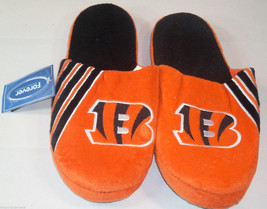 Nwt Nfl Stripe Logo Slide Slippers - Cincinnati Bengals - Medium - $19.95