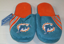 Nwt Nfl Stripe Logo Slide Slippers - Miami Dolphins - Large - $19.95