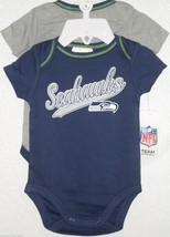 Nfl Nwt Infant ONESIE-SET Of 2- Seattle Seahawks 0-3 Months - $22.90