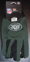 Nfl Nwt No Slip Utility Work GLOVES- New York Jets - Green W/ Black Palm - $7.99