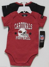 Nfl Nwt Infant ONESIE-SET Of 2- Arizona Cardinals 0-3 Months - $24.95