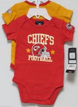 Nfl Nwt Infant ONESIE-SET Of 2- Kansas City Chiefs 0-3 Months - $26.95