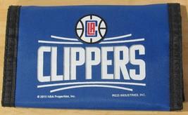 Nba Nwt Printed Tri Fold Nylon Wallet - Los Angeles Clippers -CURRENT Logo Royal - $12.95