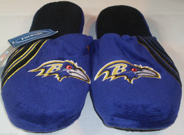 Nwt Nfl Stripe Logo Slide Slippers - Baltimore Ravens - Medium - $17.92