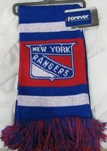 """NWT NHL 2012 TEAM STRIPE ACRYLIC SCARF 64""""x7"""" - NEW YORK RANGERS - $29.99"""