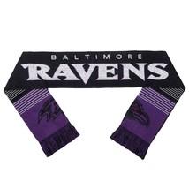 "Nwt Nfl 2015 Reversible Split Logo Scarf 64"" By 7"" - Baltimore Ravens - $19.95"