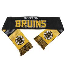 "NWT NHL 2015 REVERSIBLE SPLIT LOGO SCARF 64"" by 7"" - BOSTON BRUINS - $25.95"