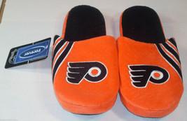 Nwt Nhl Stripe Logo Slide Slippers - Philadelphia Flyers - Small - $18.95