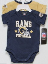Nfl Nwt Infant ONESIE-SET Of 2- St. Louis Rams 12 Months - $26.95