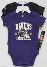Nfl Nwt Infant ONESIE-SET Of 2- Baltimore Ravens 0-3 Months - $26.95
