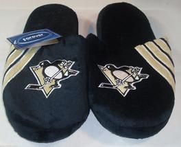 Nwt Nhl Stripe Logo Slide Slippers - Pittsburgh Penguins - Large - $22.95