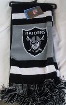 """Nwt Nfl 2012 Team Stripe Acrylic Scarf 64""""x7"""" - Oakland Raiders - $18.05"""