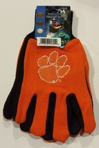 Ncaa Nwt No Slip Utility Work Gloves - Clemson Tigers - $9.99