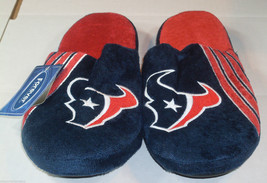 Nwt Nfl Stripe Logo Slide Slippers - Houston Texans - Extra Large - $24.95