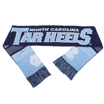 "Nwt Ncaa 2015 Reversible Split Logo Scarf 64"" By 7"" - Unc - U. North Carolina - $25.99"