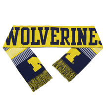 "Nwt Ncaa 2015 Reversible Split Logo Scarf 64"" By 7"" - Michigan Wolverines"