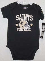 NFL NWT INFANT ONESIE-SET OF 2- NEW ORLEANS SAINTS 0-3 MONTHS - €22,89 EUR