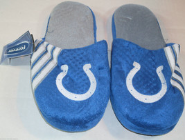 Nwt Nfl Stripe Logo Slide Slippers - Indianapolis Colts - Extra Large - $19.95