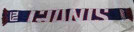 """Nwt Nfl 2014 Wordmark Team Stripe Acrylic Scarf 64""""x7"""" - New York Giants - $21.95"""