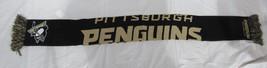 "NWT NHL 2014 WORDMARK TEAM STRIPE ACRYLIC SCARF 64""x7"" - PITTSBURGH PENG... - $20.95"