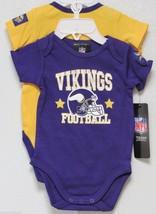 Nfl Nwt Infant ONESIE-SET Of 2- Minnesota Vikings 18 Months - $26.95