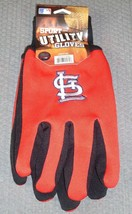 Mlb Nwt No Slip Utility Work GLOVES- St. Louis Cardinals - $7.95