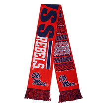 """Nwt Ncaa 2015 Reversible Ugly Sweater Scarf 64"""" By 7"""" - Ole Miss Rebels - $23.95"""