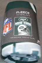 Nfl Nib 50x60 Rolled Fleece Blanket Gridiron Design - New York Jets - $27.95