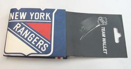 NHL SUPER WALLY BI-FOLD WALLET MADE OF DuPont Tyvek - NEW YORK RANGERS - $7.95
