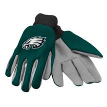 Nfl Nwt No Slip Palm Utility Gloves - Philadelphia Eagles - Green W/ Gray Palm - $10.95