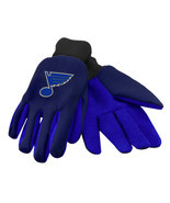 NHL NWT TEAM COLOR NO SLIP PALM UTILITY GLOVES - ST. LOUIS BLUES - £7.63 GBP