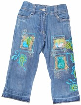 Little Mass Capri Pants Jeans Denim Embroidery Rhinestones Fashion Bouti... - $19.79